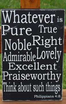 Whatever is pure, true, noble, right, admirable, lovely, excellent, praiseworthy .. think about such things. | #missions #nonprofit <br>http://pic.twitter.com/gT5unhA3i6