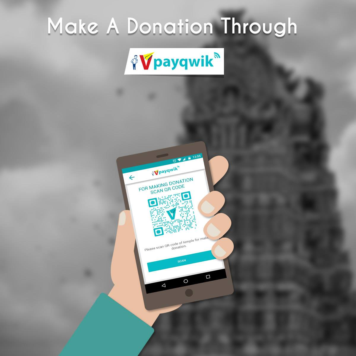 Scan the Temple QR Code and donate. #DigitalWallet #Temple #QRCode<br>http://pic.twitter.com/sTBcZWm2k4