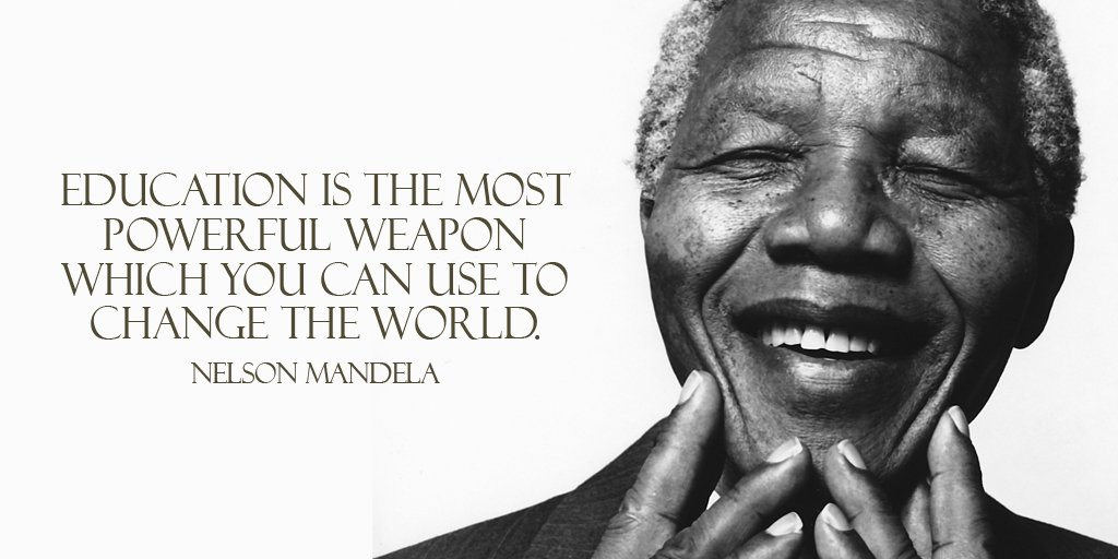 Education is the most powerful weapon which you can use to change the world.- Nelson Mandela #quote #mondaymotivation<br>http://pic.twitter.com/hpXQbo3fCF