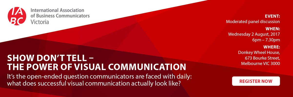 What do audiences expect from #visual #comms? Get the answer to this &amp; more at our upcoming #event Tix are limited:  http:// bit.ly/2ug0E3q  &nbsp;  <br>http://pic.twitter.com/RcglPan4eO