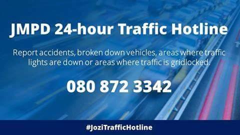 RT @CityofJoburgZA: #MondayMotivation Stuck in traffic? #JoziTrafficHotline to the rescue 👇 ^GZ https://t.co/L0Dab4UfFo