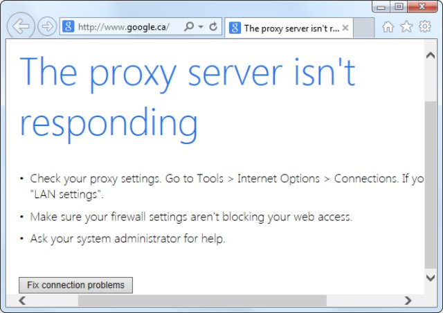 How to get rid of proxy server