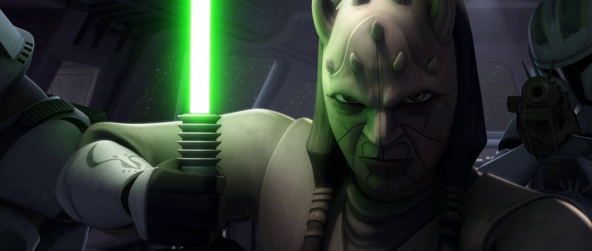 STILL OF THE DAY: #Jedi Master #EethKoth prepares to encounter Separatist leader #GeneralGrievous in this scene from #StarWars #TheCloneWars<br>http://pic.twitter.com/ALqumvkkYx