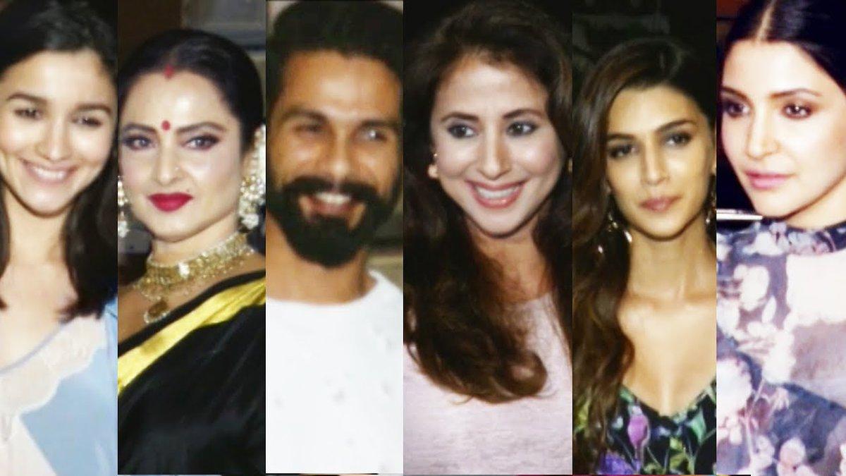 #Bollywood #Celebs Attend Filmfare Editor #JiteshPillai Birthday Bash #Shahid, #Alia, #Anushka, #Rekha Check Out  http:// goo.gl/PTRiVh  &nbsp;  <br>http://pic.twitter.com/oUhoKGGkn2