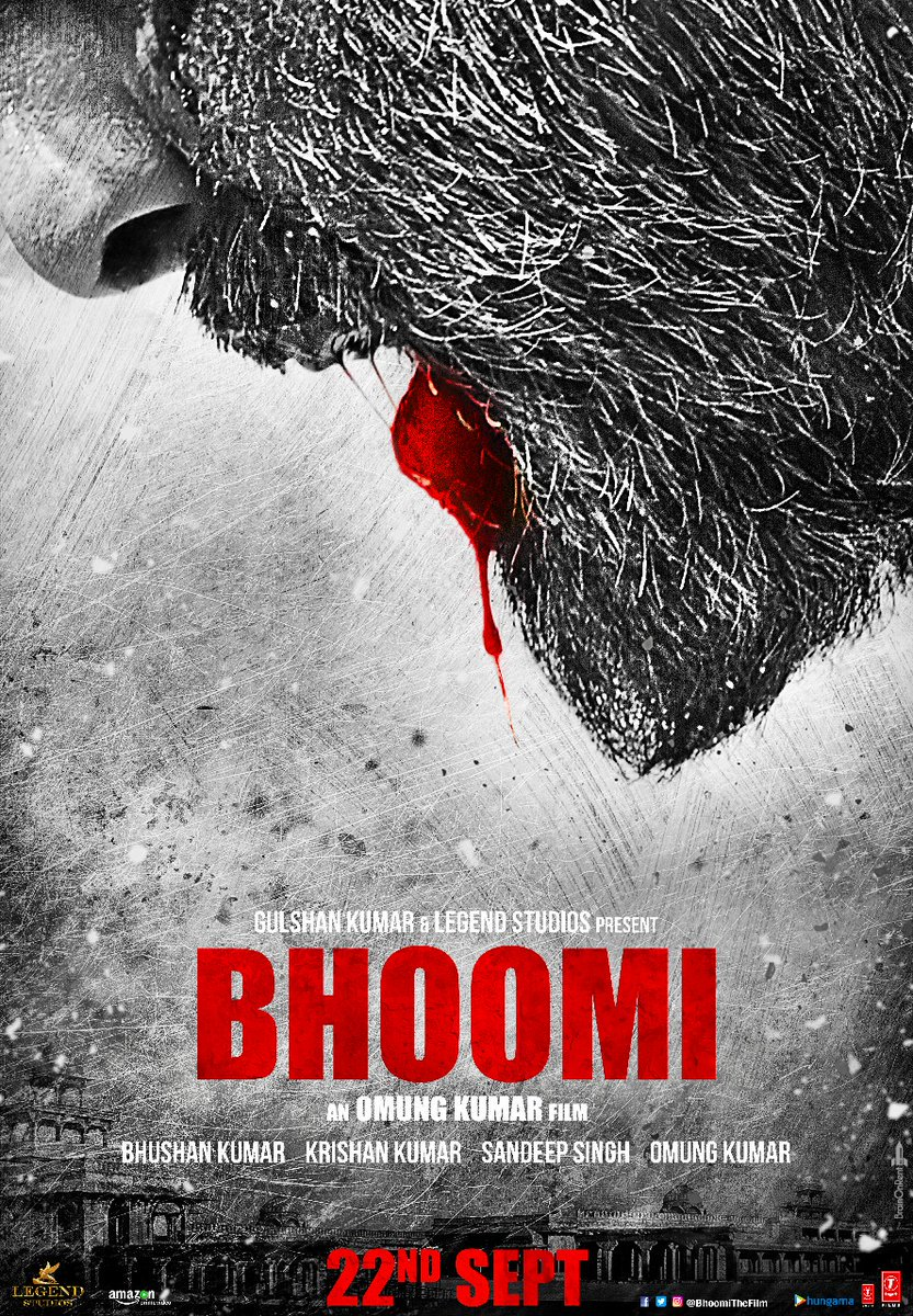 Killer .... what a poster the #Earth just shook  @duttsanjay @aditiraohydari @BhoomiTheFilm @TSeries @OmungKumar #Bhoomi<br>http://pic.twitter.com/lEIhHcoovK