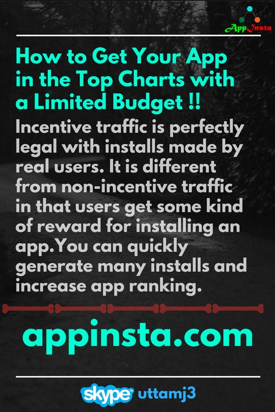 With #appinsta you can quickly generate many #installs and increase #app #ranking @appinstaz #indiedev #IndieGameDev #ios #Android #Monday <br>http://pic.twitter.com/wzSOtSTFgQ