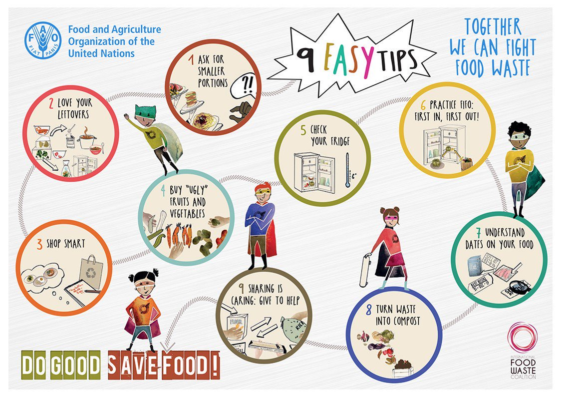 Try these nine easy tips to reduce #foodwaste! https://t.co/x1LM8NnxqM via @FAOstatistics