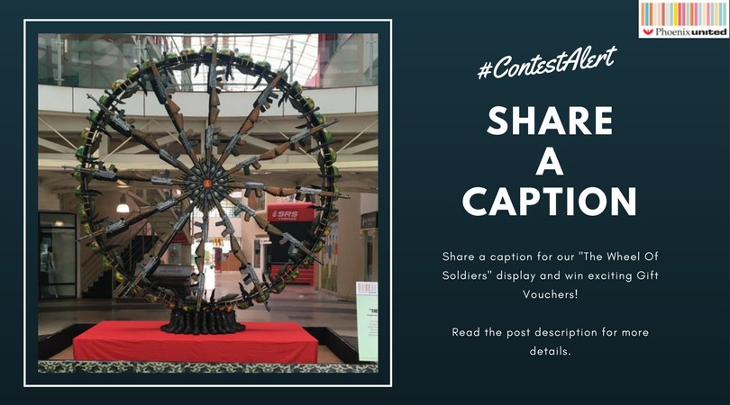 #ContestAlert #Reply or #Message a CAPTION for the Kargil display at #PhoenixMall #Bareilly with &quot;#WheelOfSoldiers&quot; &amp; win cool gift vouchers<br>http://pic.twitter.com/O4t7rGTpax