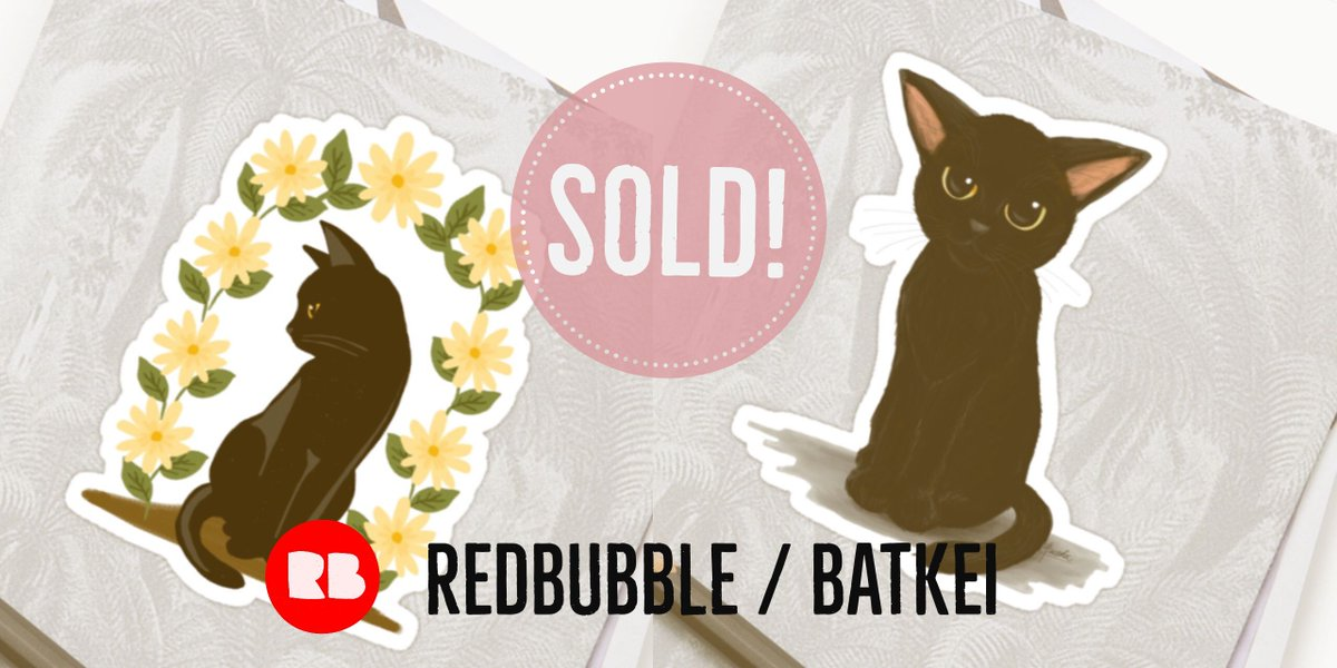 SOLD 2 Stickers! Thank you! #redbubble #cat #猫 #cats #feline #Stickers #sticker #animal    http:// buff.ly/2uPjPBB  &nbsp;  <br>http://pic.twitter.com/HCkVj9TkCy