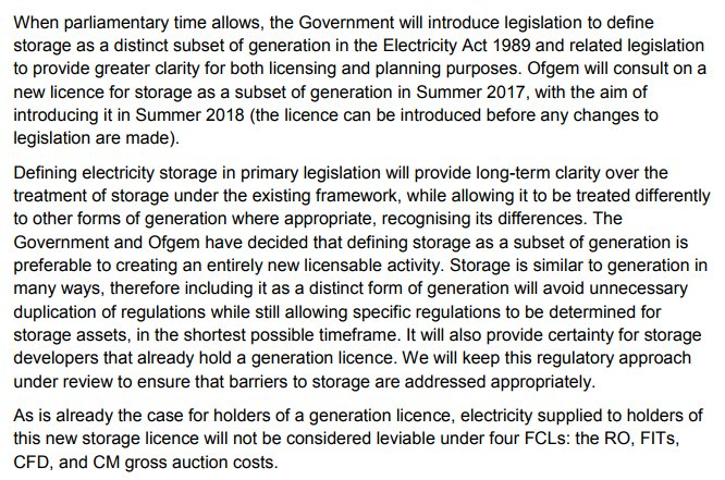 Richard Howard On Twitter Ofgem To Create New Licence For Storage And Exempt It From Final Consumption Levies As Per Our 2 0 Report