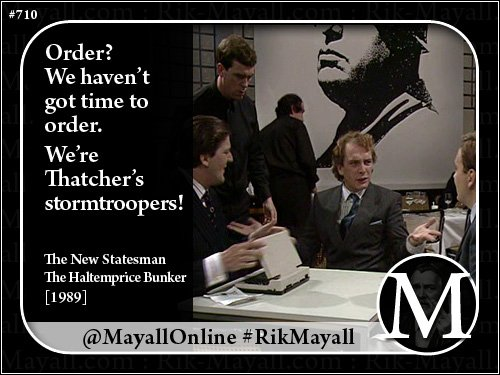 Order? We haven&#39;t got time to order. We&#39;re Thatcher&#39;s stormtroopers!  #MotivationMonday <br>http://pic.twitter.com/6TpAYTLUsY
