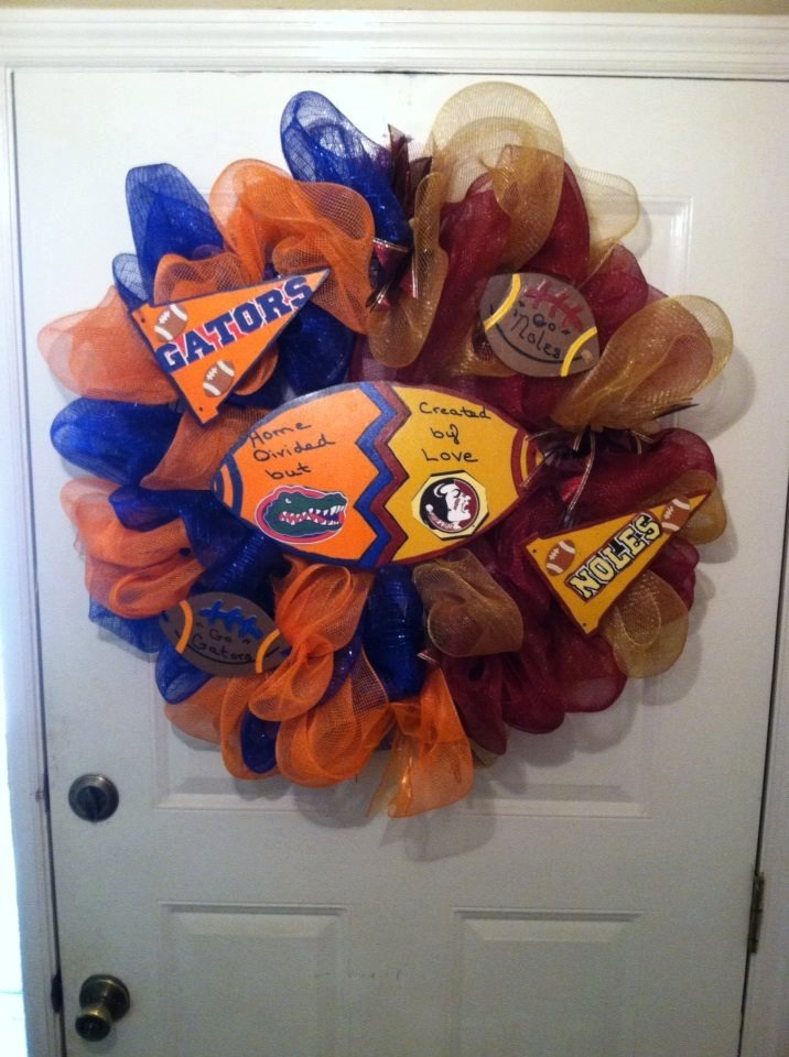 Florida Gators/ FSU Seminoles House Divided Deco Mesh Wreath,House Divided Wreath,Gator/Noles  https:// seethis.co/mlrBE/  &nbsp;   #etsychaching #etsyaaa<br>http://pic.twitter.com/gJzNFrb6cC