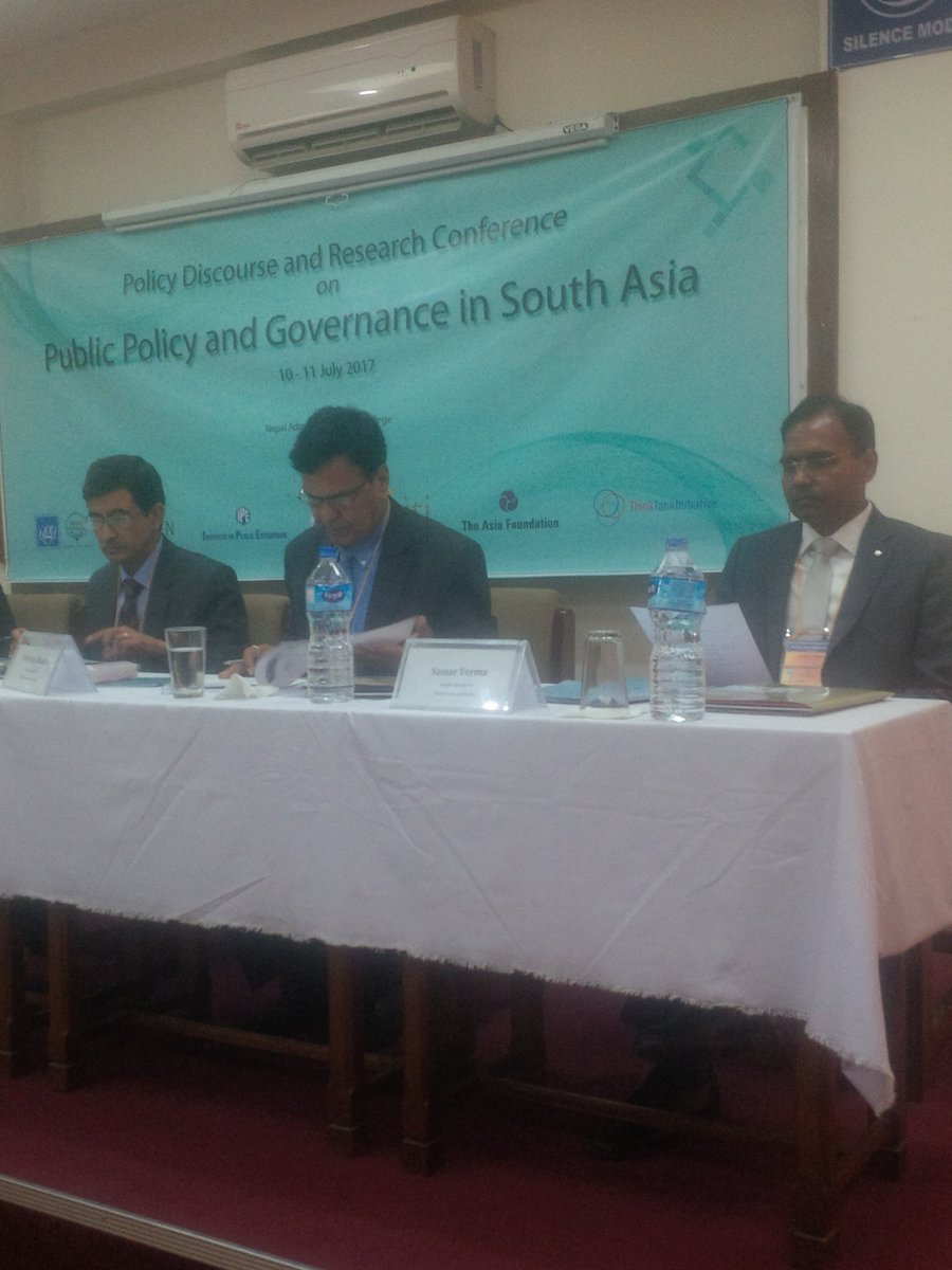 Speaking on #researchuptake in South Asia at @NASC led conf on #publicdiscourse, Kathmandu @TTI_ITT @IDRC_CRDI<br>http://pic.twitter.com/L4Vd30pZed