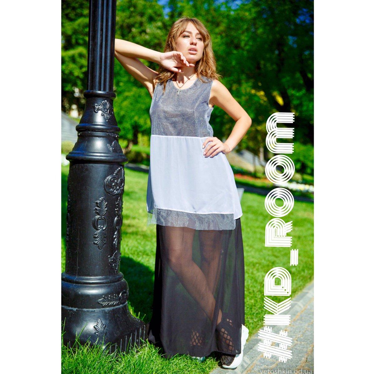 белая вязаная туника платье