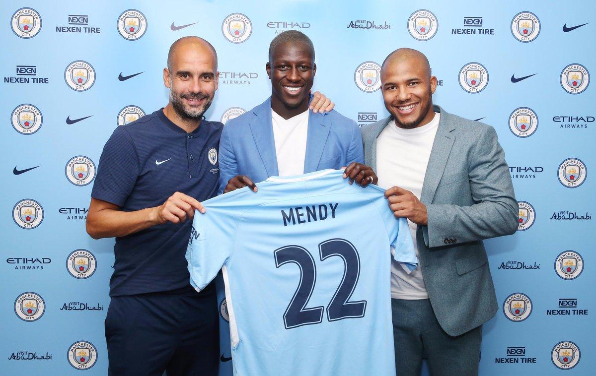 Benjamin Mendy Manchester City Home Jersey