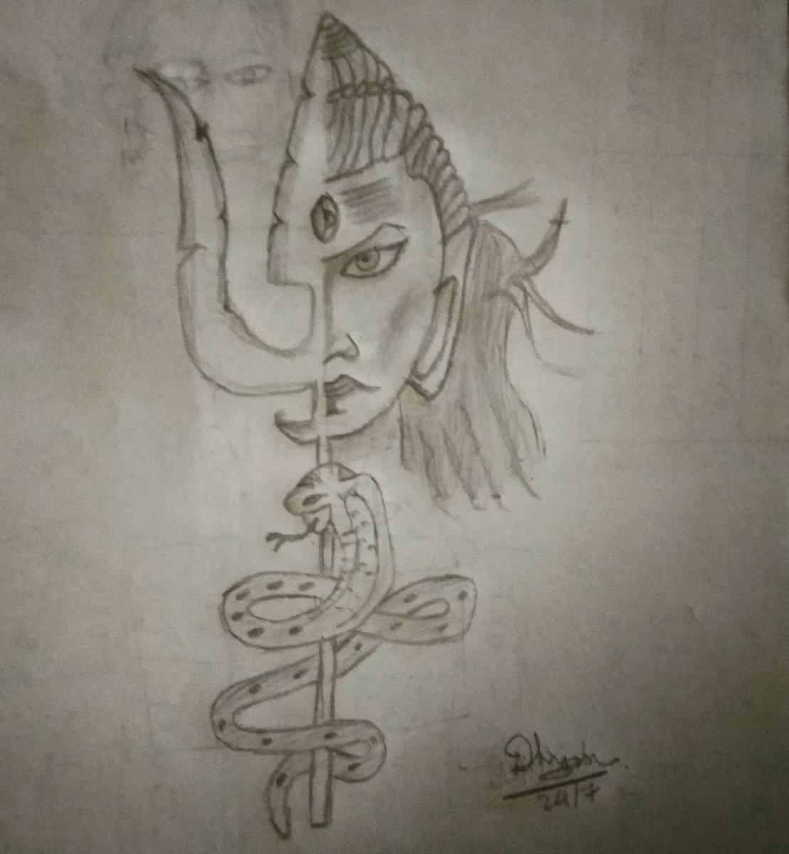 Happy sranvas mas shiva mahadev sketch instaart mood my sketch shankar shambhu lordshiva trishul nilkanth spiritual mahakalpic twitter com