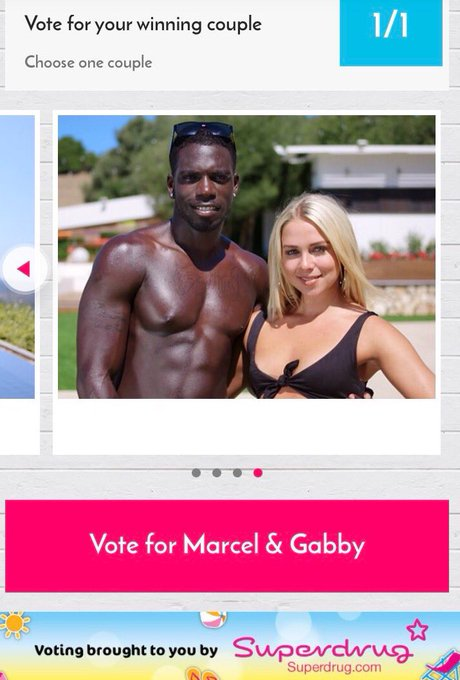 Guys don't forget to vote for @marcel_rockyb & @gabbydawnallen they've got my vote ♥️🌴 download the app