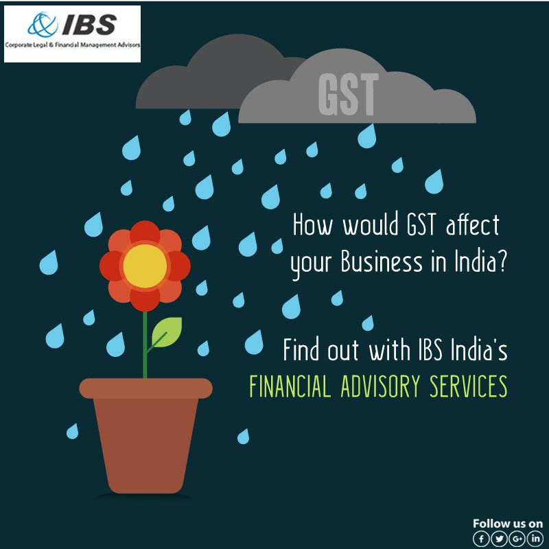 To know more about #GST &amp; its effects on ur #Business contact #IBS #India today!  http://www. consultibs.in  &nbsp;   +91 22-28219787 #Advisers #Service<br>http://pic.twitter.com/aiH1zHKBX2
