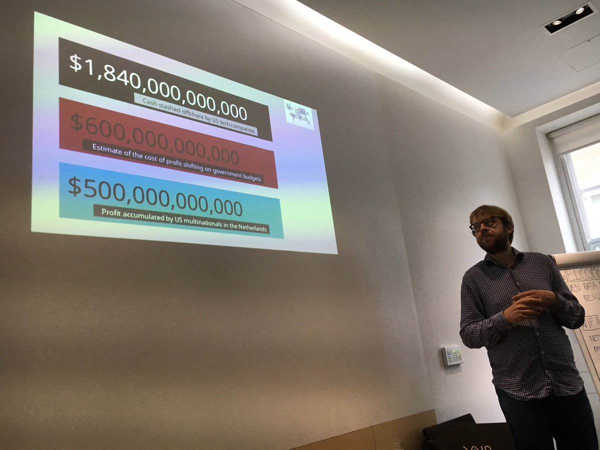 First day of #opendata for #taxjustice workshop in London, @georgenturner reviews some of the big numbers. #OD4TJ<br>http://pic.twitter.com/vDqbP5lUJN