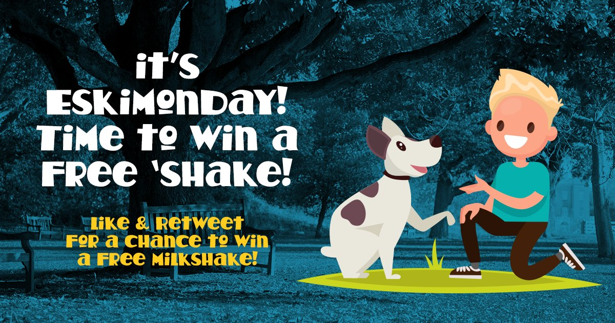 Yo yo! It&#39;s time for #Eskimonday our weekly #competition! Like and retweet for a chance to win yourself a free milkshake!  <br>http://pic.twitter.com/p4yPH9WAi5