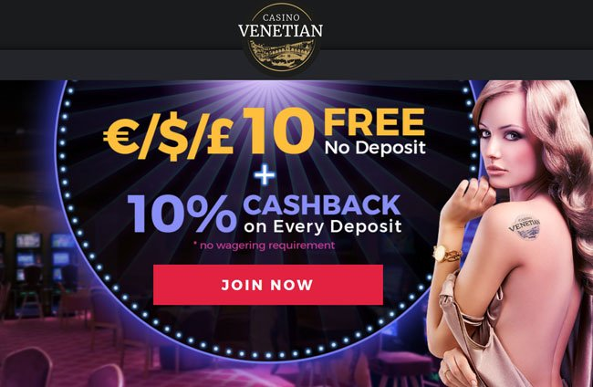 Casino Venetian no deposit bonus