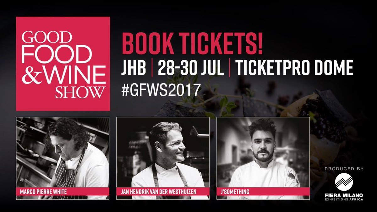 Win tix to @goodfoodSA.Like their page, retweet my post &amp; tell me which chef you&#39;re most excited to see at #GFWS2017  #Win #Competition <br>http://pic.twitter.com/2EvxiRN6ex