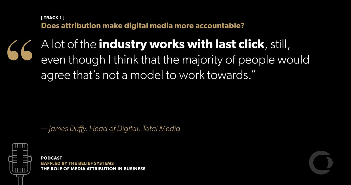 Why is digital advertising often reliant on last click #attribution? @TotalMediaUK&#39;s James Duffy joins this #podcast  http:// hubs.ly/H07QjD70  &nbsp;  <br>http://pic.twitter.com/hutxClhTmd