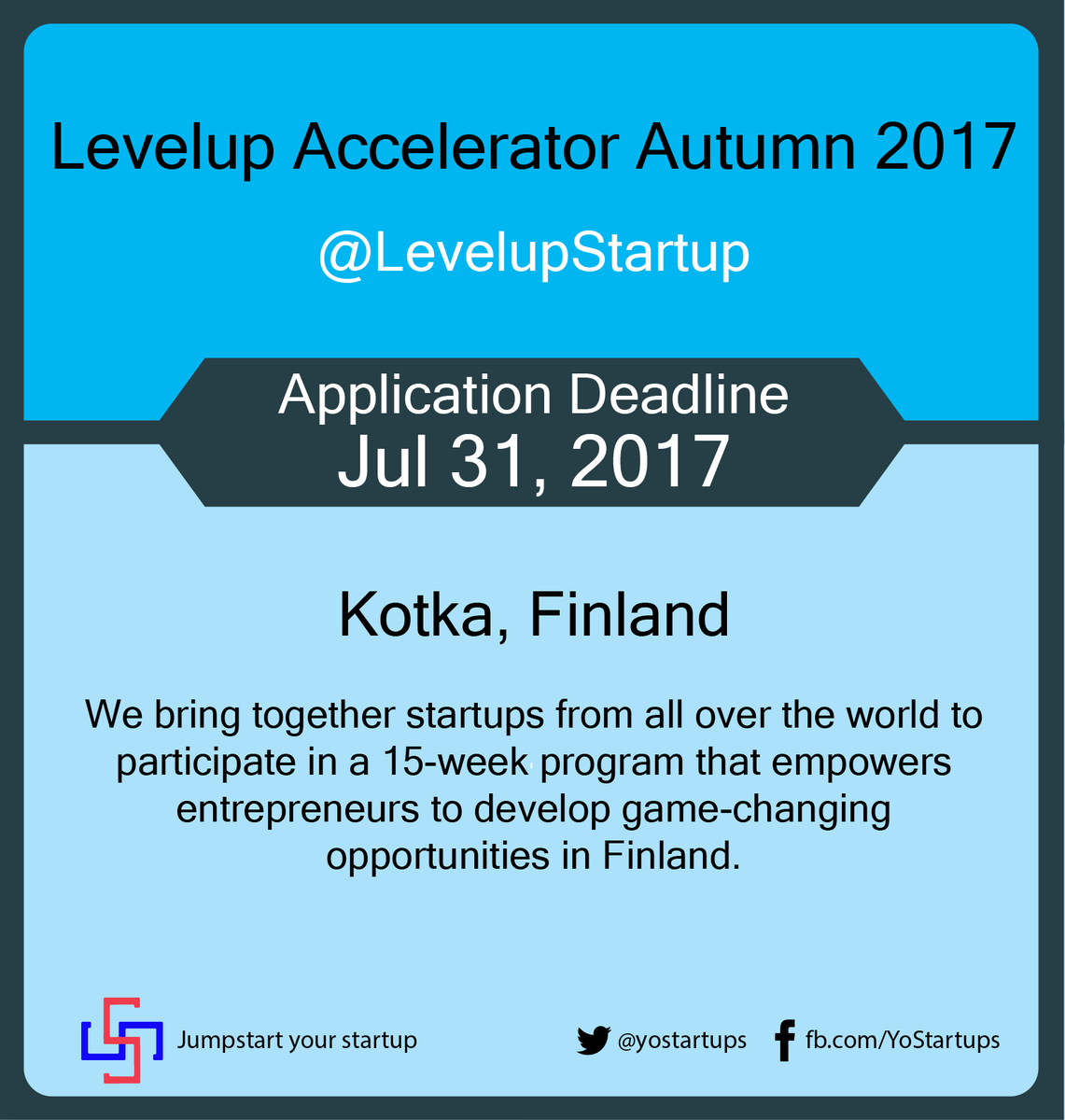 Checkout @LevelupStartup Dynamic, empowering &amp; flexible #startup #accelerator program based in #Finland #YoStartups  https:// goo.gl/md6Kam  &nbsp;  <br>http://pic.twitter.com/lWpCqp4ZBw