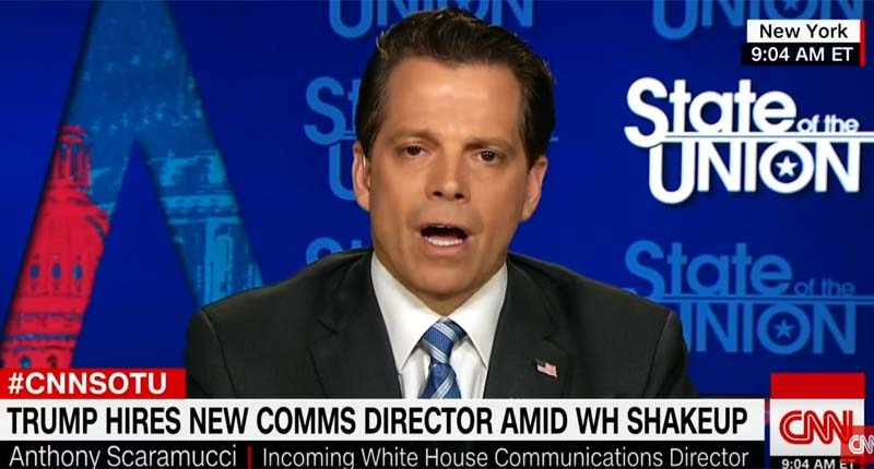 'Mooch sucks at his job already': Internet flays Anthony Scaramucci after flame-out #CNN interview. Big #fail.  http:// ow.ly/4msV30dQUDU  &nbsp;   <br>http://pic.twitter.com/ZwnQv03PYV