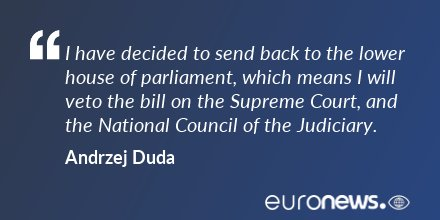 All Quotes On Twitter Polish President Andrzej Duda Says He Will Veto Controversial Top Court Reform Bill Https T Co Zfibjvfyvm Allviews Quotes Https T Co Pwd68qafmu