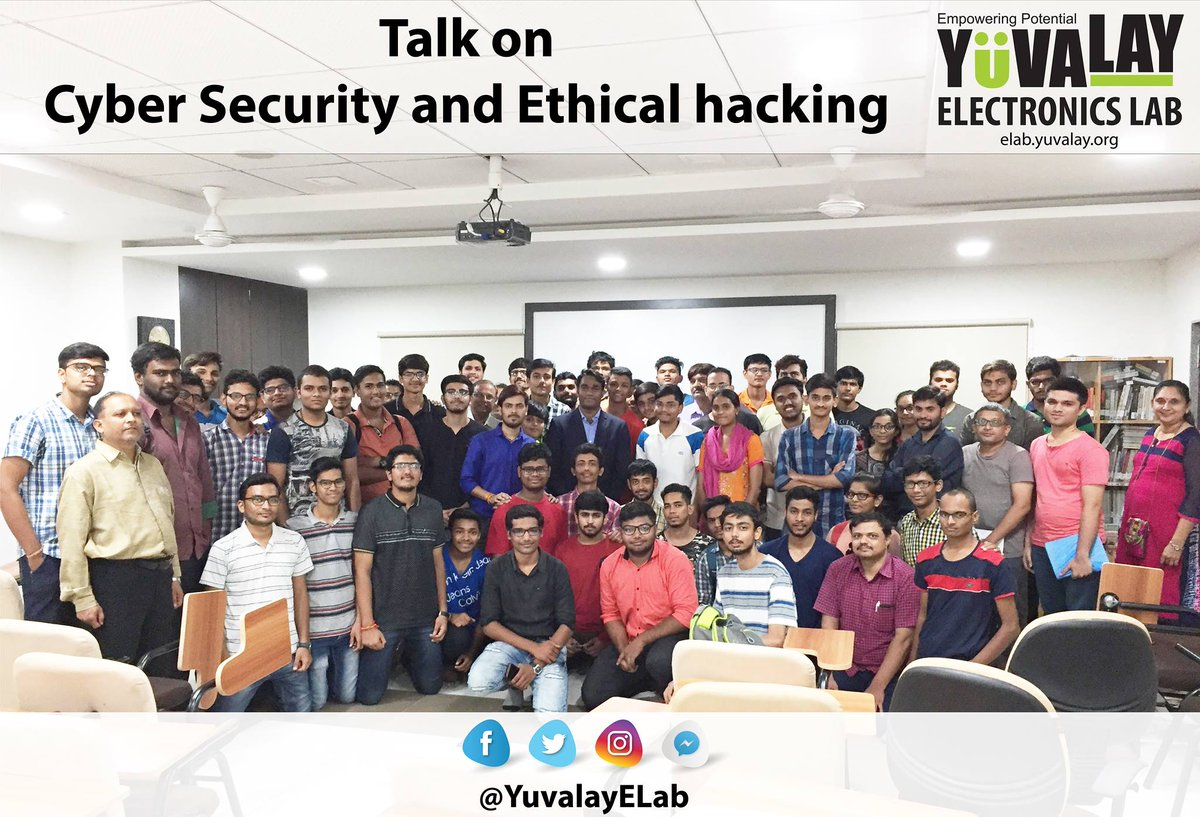Glimpses of Talk on #CyberSecurity &amp; Ethical #hacking by @YuvalayElab &amp; @ComExpo_Cyber_S  #privacy #Security #CyberAttack #Malware #exploit<br>http://pic.twitter.com/9k61rEbgZX