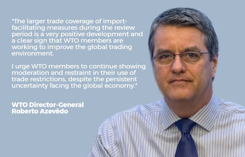 .@WTODGAZEVEDO calls #WTO members to continue showing restraint w/ #trade restrictions. See:  http:// bit.ly/WTOmonitoring  &nbsp;  <br>http://pic.twitter.com/gnoeHHzOVR