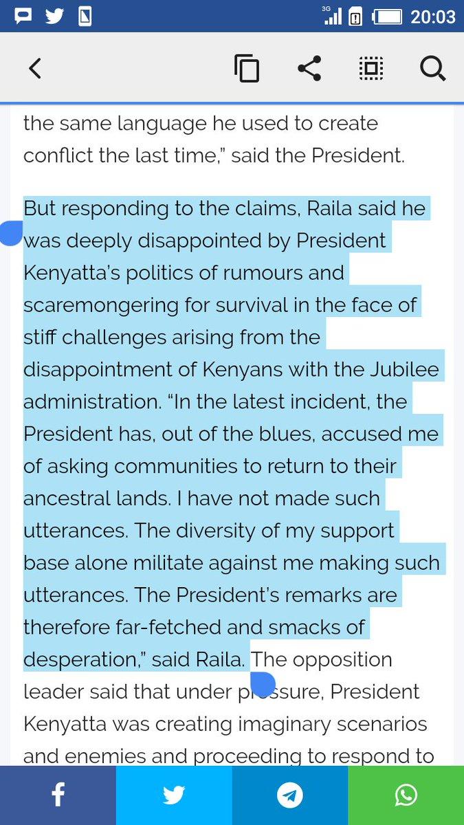 Raila advised the Maasai to stop selling their land cheaply but what Uhuru heard was Maasai should EXPEL outsiders in Kajiado. #UhuruToka <br>http://pic.twitter.com/u2w4Mi3dol