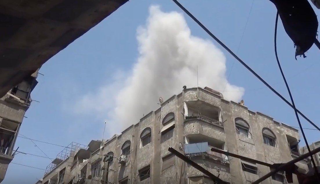 Airstrikes on Ain Tarma in Eastern Ghouta