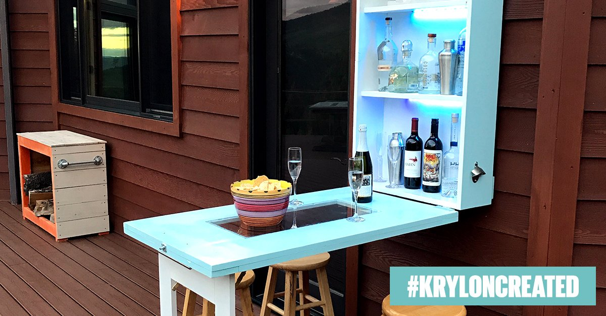 Diy_pete Used The New Krylon Outdoor Decor Products To Add Satin Color To His Patio Bar Learn How To Make Yours Ow Ly Bfvdmogq Pic Twitter Com