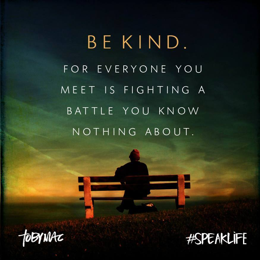 &quot;BE KIND...  Someone may just need to feel like &#39;somebody&#39; cares today!&quot;  #quote #makeadifference #positivity<br>http://pic.twitter.com/lwdJkQomtF