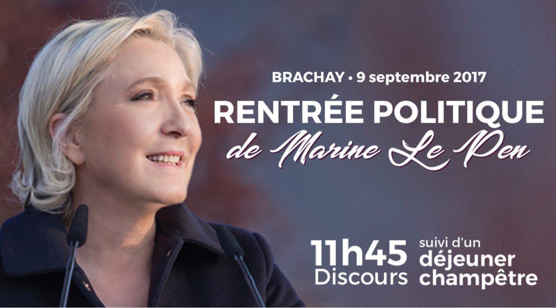🗓 Je vous donne rendez-vous à #Brachay le 9 septembre prochain où j'effectuerai ma rentrée politique.