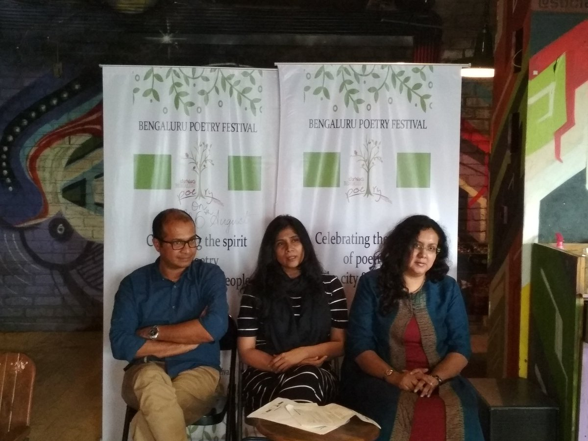 Interaction with #Press for the second edition of @BengaluruPoetry Festival  #PressMeet #BPF2017 #Bengaluru<br>http://pic.twitter.com/lfAgfi8wvw