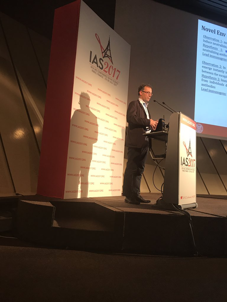Rogier Sanders @AMC_NL presenting at #IAS2017 for EAVI2020.  #HIV Conference #research #H2020<br>http://pic.twitter.com/QafA1yJZJG