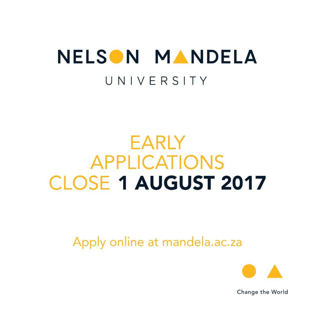 ApplyNow@NelsonMandelaUniversity #apply #application #1Aug #deadline #university #Education<br>http://pic.twitter.com/c1zDNIvQDn