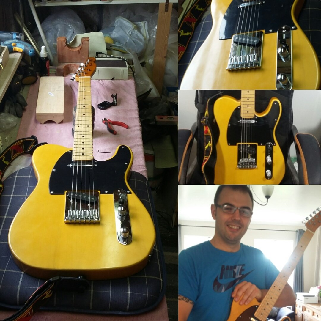Custom made Butterscotch Telecaster made for my great friend Daragh #luthier #woodworking #guitarbuilding #telecaster<br>http://pic.twitter.com/2CzxhltQvC