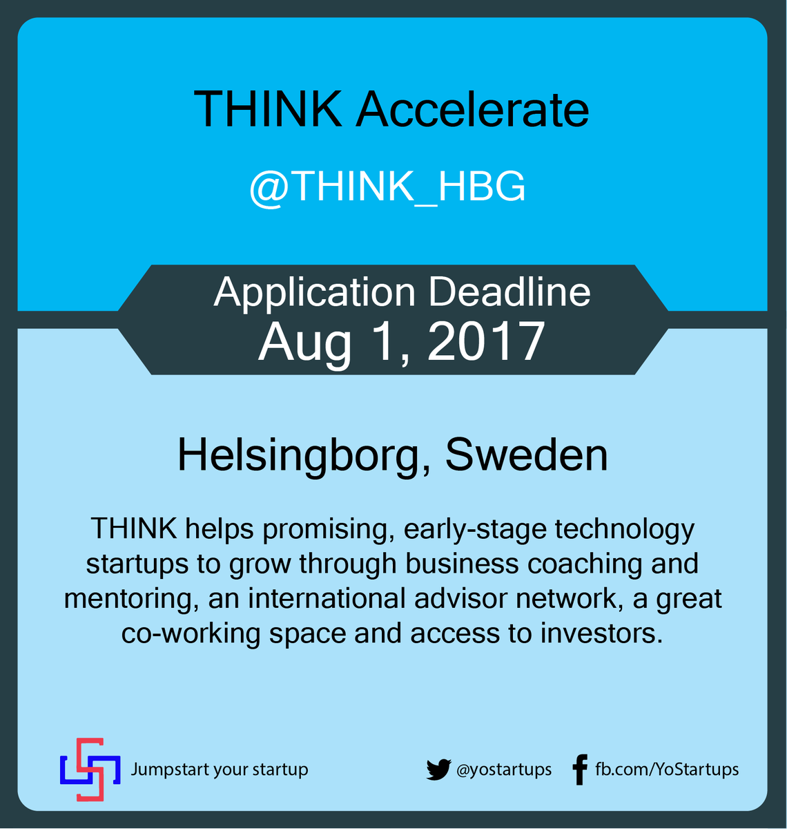 Checkout @THINK_HBG accelerating early stage startup through ideation to product-market fit #accelerator #yostartups  https:// goo.gl/rYDNsP  &nbsp;  <br>http://pic.twitter.com/lhZppTMVpJ