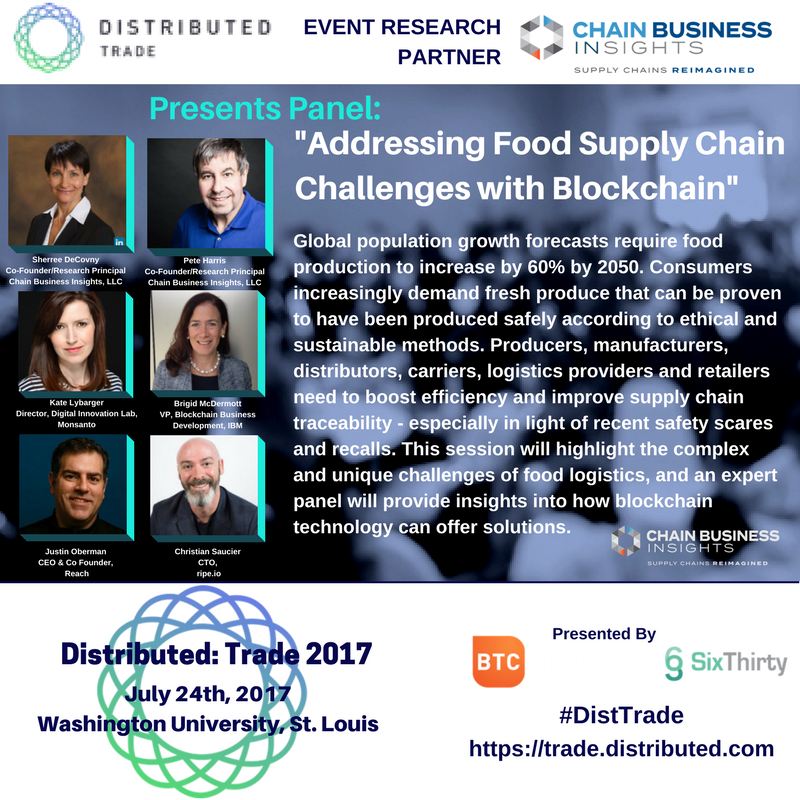 Looking forward to today&#39;s #DistTrade 2017 Conference. Join us at 2:55PM for &quot;Addressing #Food #SupplyChain Challenges w/ #Blockchain.&quot; #SCM<br>http://pic.twitter.com/C9fsMp4pNs