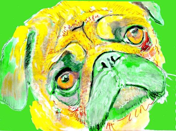 Pug Dog Painting, Print of Original Art  Yellow / Green colourfu…  https://www. etsy.com/OjsDogPainting s/listing/190392102/pug-dog-painting-print-of-original-art?utm_source=etsyfu&amp;utm_medium=api&amp;utm_campaign=api &nbsp; …  #dogsoftwitter #MothersDay <br>http://pic.twitter.com/dcFZFVjeoP