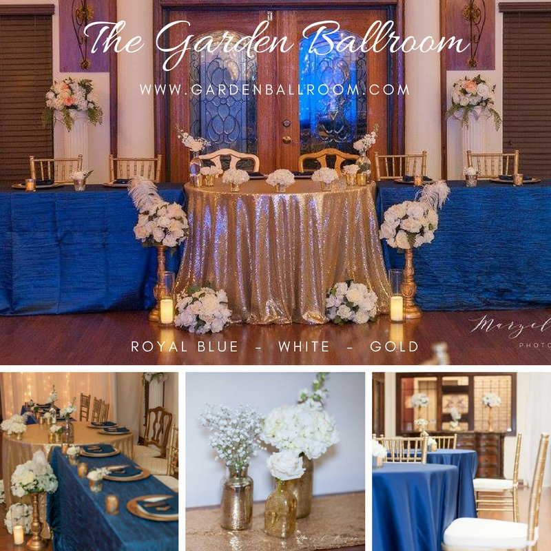 Garden Ballroom On Twitter Mock Up Monday Royal Blue White Gold