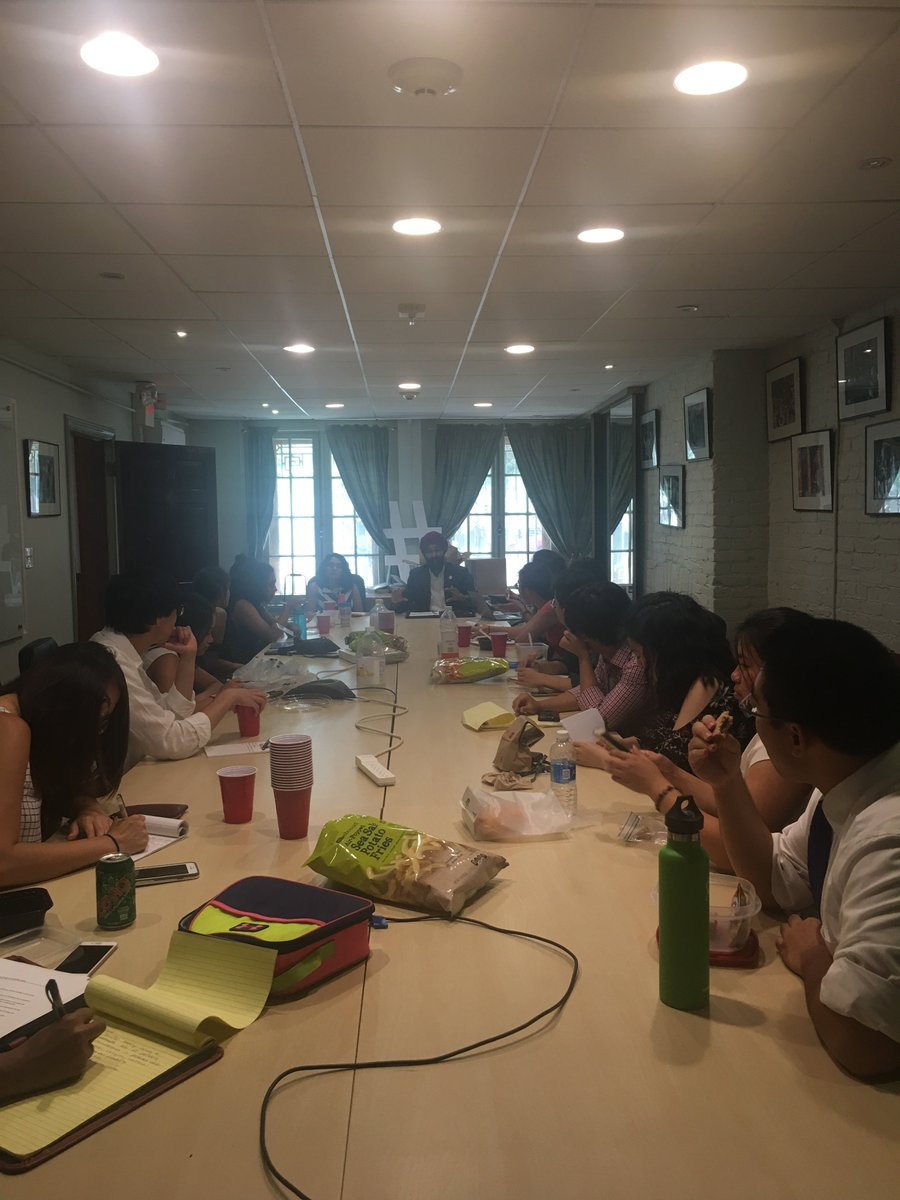 Packed house @ last NCAPA intern brown bag! Thanks to NCAPA members @SAALTweets and @NAPABA for talking to #AAPI interns about hate crimes. <br>http://pic.twitter.com/ffmV4XiP6x