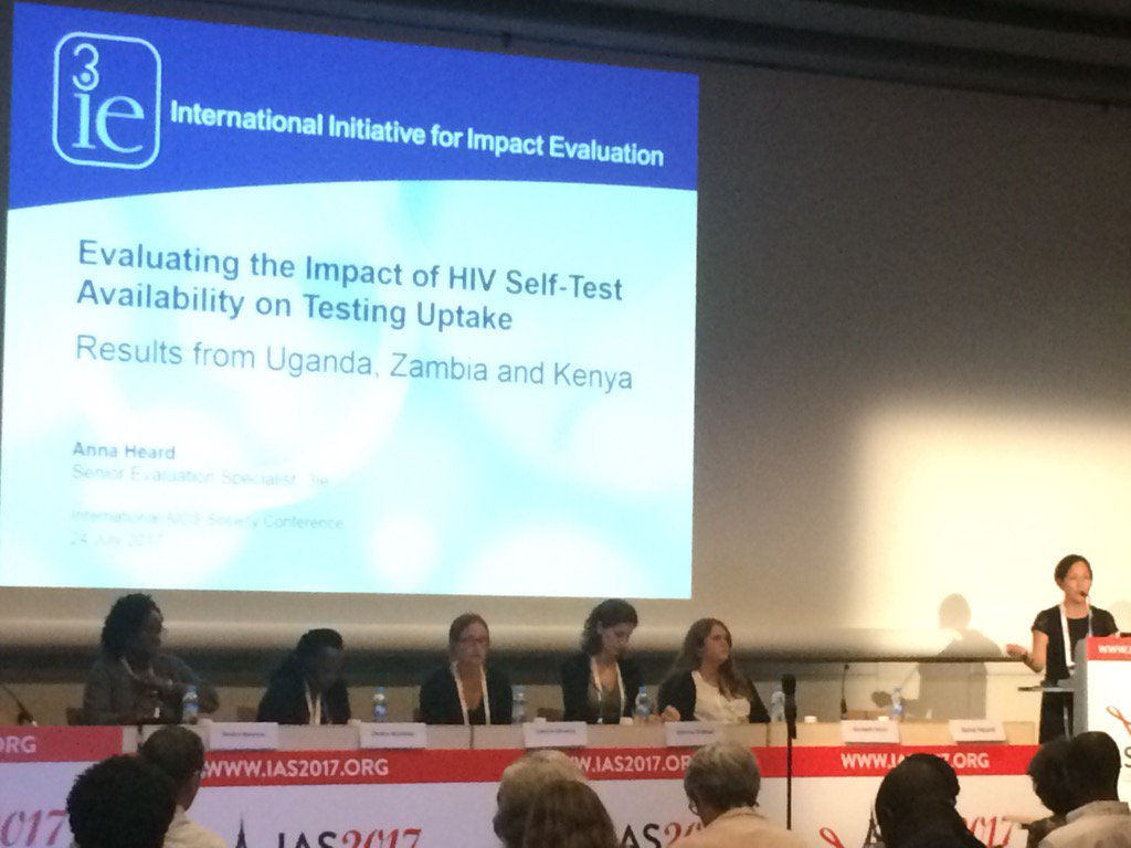 Kicking off our session on #HIVST Impact evaluation results now! @IAS_conference #IAS2017 https://t.co/2gYbk0UyaA