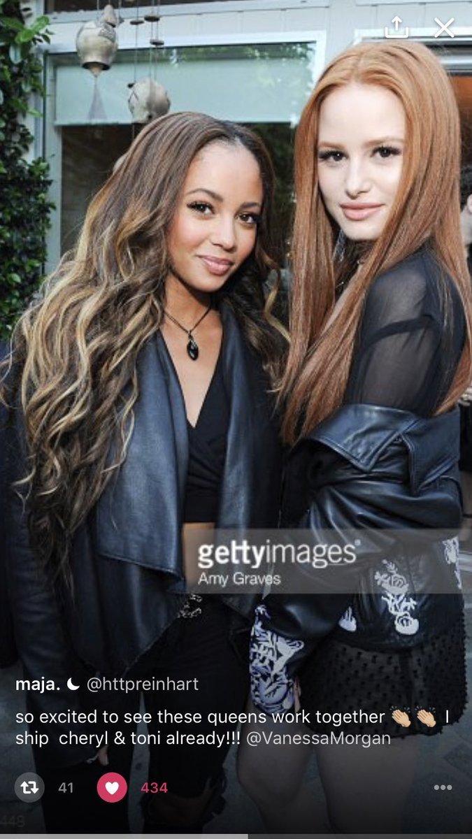 So excited to have my fave gal up in Vancouver w me. Welcome to the Riverdale family V @VanessaMorgan ❤️💓