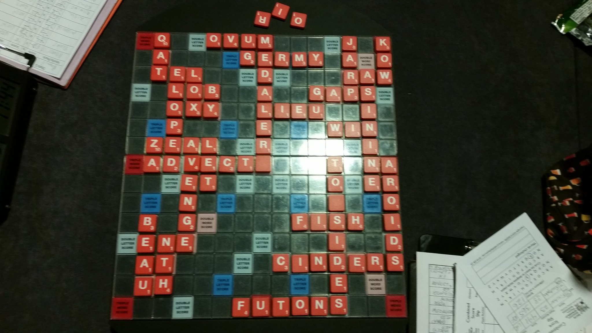 Bagged Melissa.  Opening rack acdegt? Passed g after chickening out on gatched.  Gedacts too.  #nasc2017 #scrabble https://t.co/z2LWP6gGAn