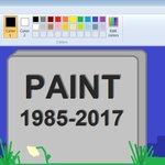 RT @BBCWorld: Microsoft is saying goodbye to Paint...